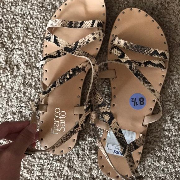 Franco sarto snakeskin sandals